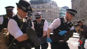 London police remove, arrest climate activists by Oxford Circus boat